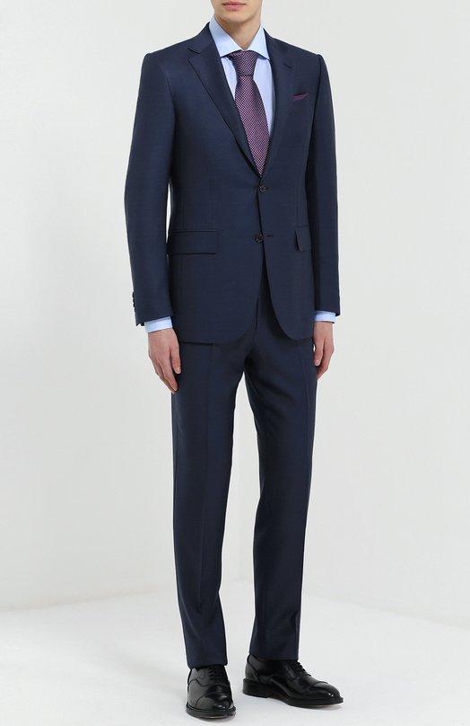 Шерстяной приталенный костюм Ermenegildo Zegna 922577221225
