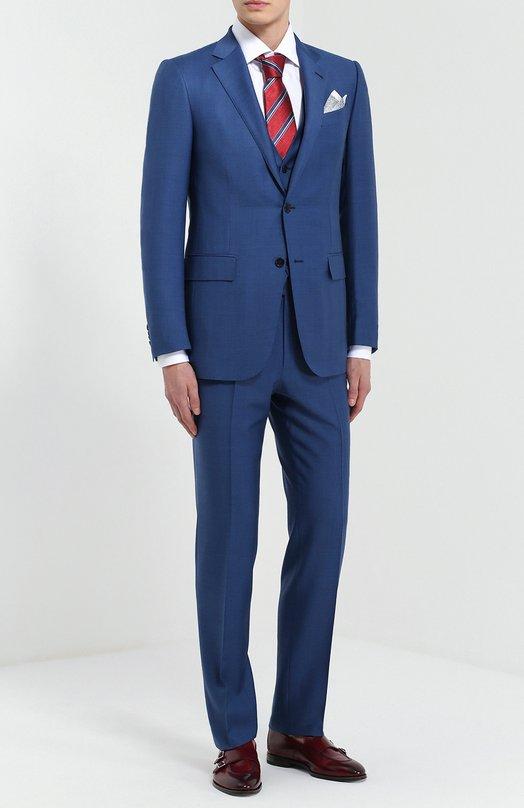 Шерстяной костюм-тройка Ermenegildo Zegna 922597321225