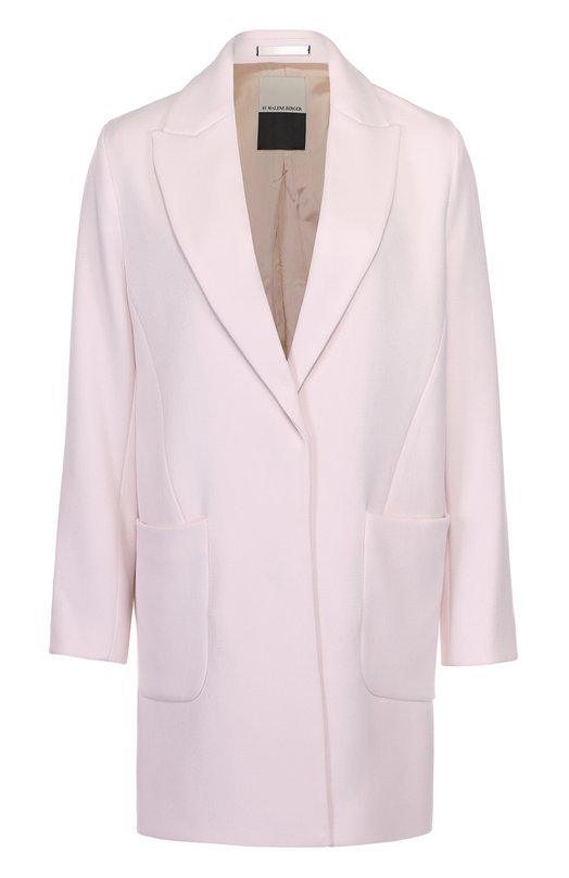 Пальто прямого кроя с накладными карманами By Malene Birger Q62246004/ZANIAS