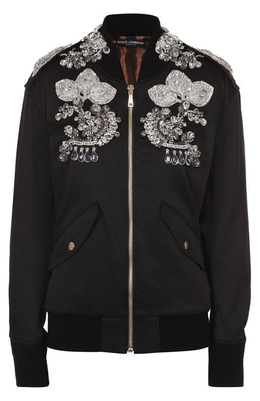 Бомбер на молнии с контрастной отделкой Dolce & Gabbana 0102/F9857Z/G7JHG