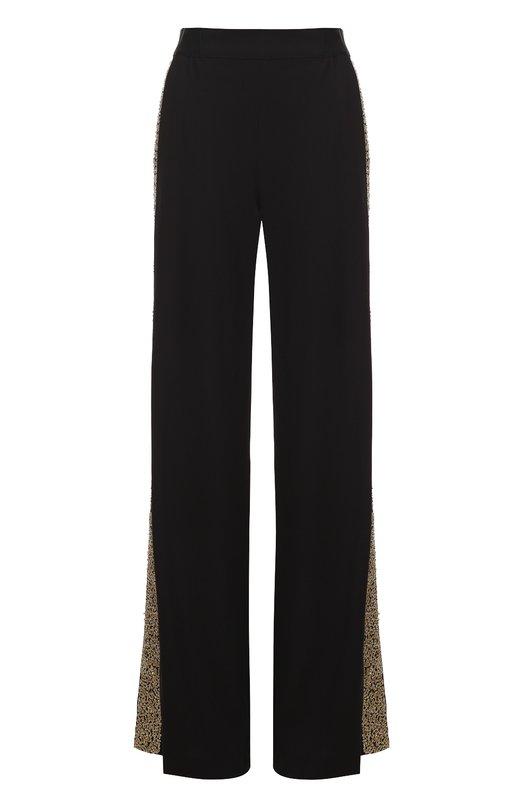 Широкие брюки с эластичным поясом и вышитыми пайетками лампасами Alice + Olivia C610102207
