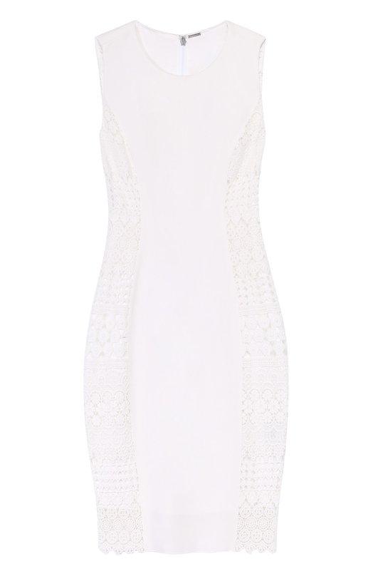 Платье-футляр без рукавов с кружевной вставкой Elie Tahari EN087606