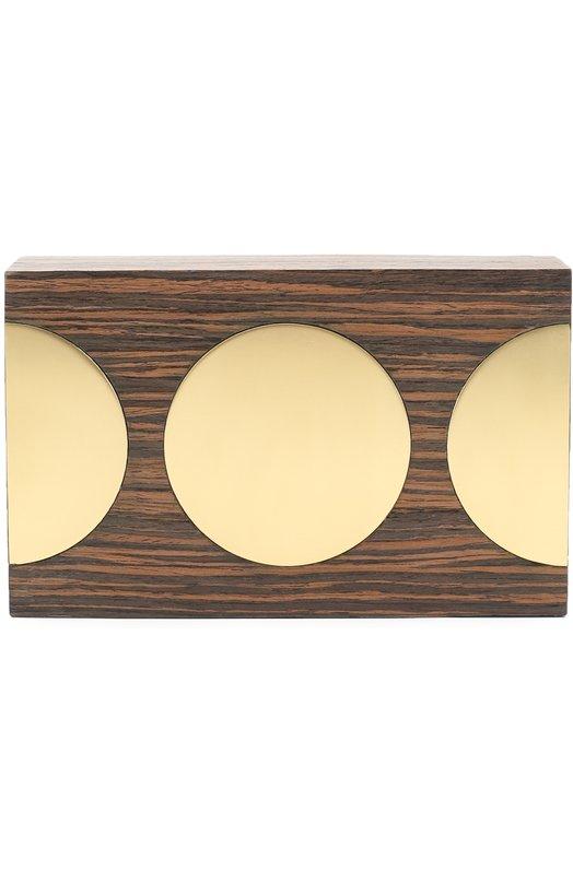 Клатч из дерева с отделкой металлом Stella McCartney 431643/W9403