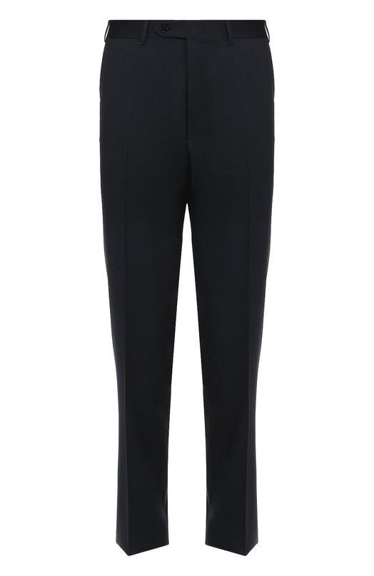 Шерстяные брюки прямого кроя Canali AS00310/78012