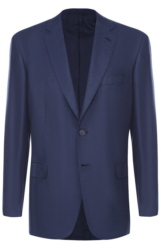 Купить Однобортный пиджак из смеси шелка и кашемира Brioni, RG00/0543W/BRUNIC0/2, Италия, Синий, Шелк: 55%; Кашемир: 45%; Подкладка-купра: 100%;