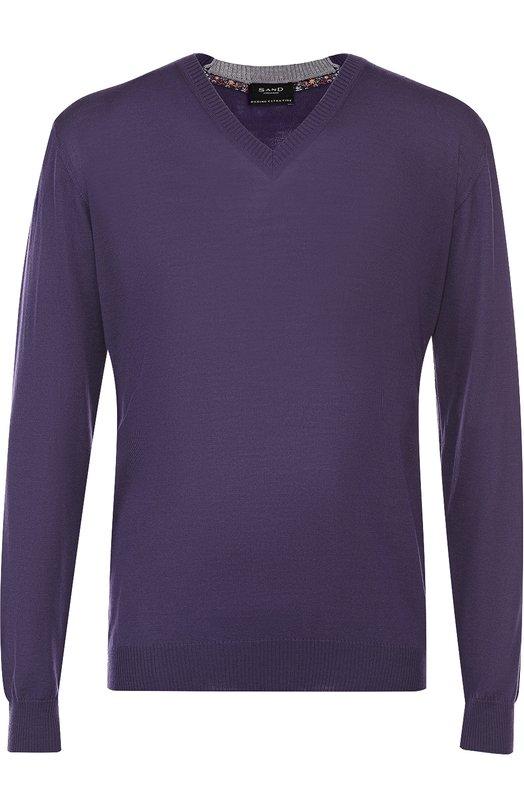 Пуловер из шерсти тонкой вязки Sand MERIN0 LIGHT/IV