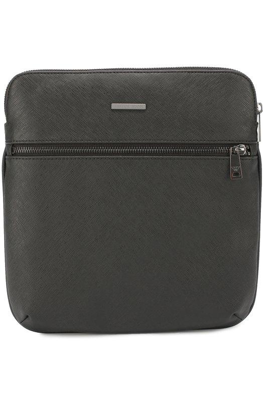 Сумка-планшет с внешним карманом на молнии Armani Jeans 932536/CC991