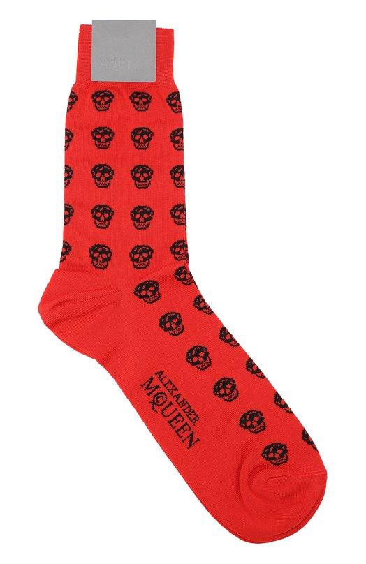 Хлопковые носки с узором в виде черепов Alexander McQueen 311355/4606Q