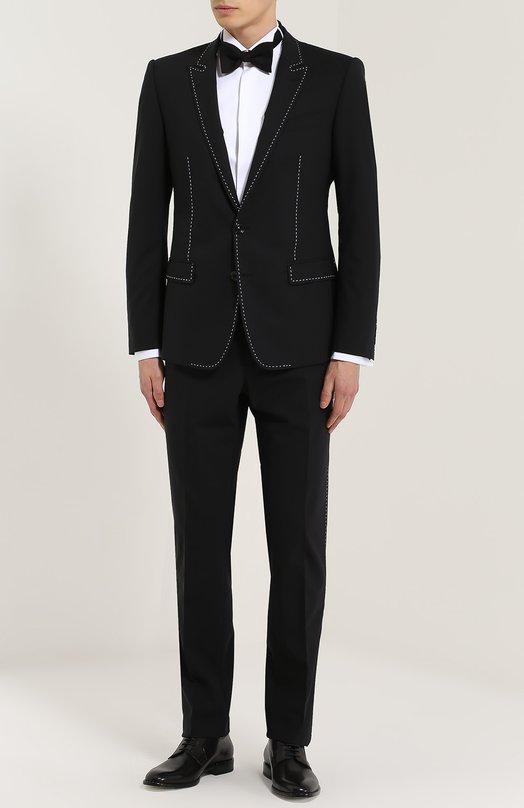 Шерстяной смокинг с контрастной прострочкой Dolce & Gabbana 0101/G17VMT/FUBBG