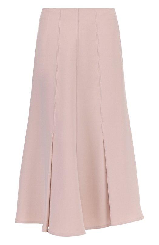 Купить Шелковая расклешенная юбка-миди Giorgio Armani, UAN08T/0A101, Италия, Бежевый, Шелк: 100%;