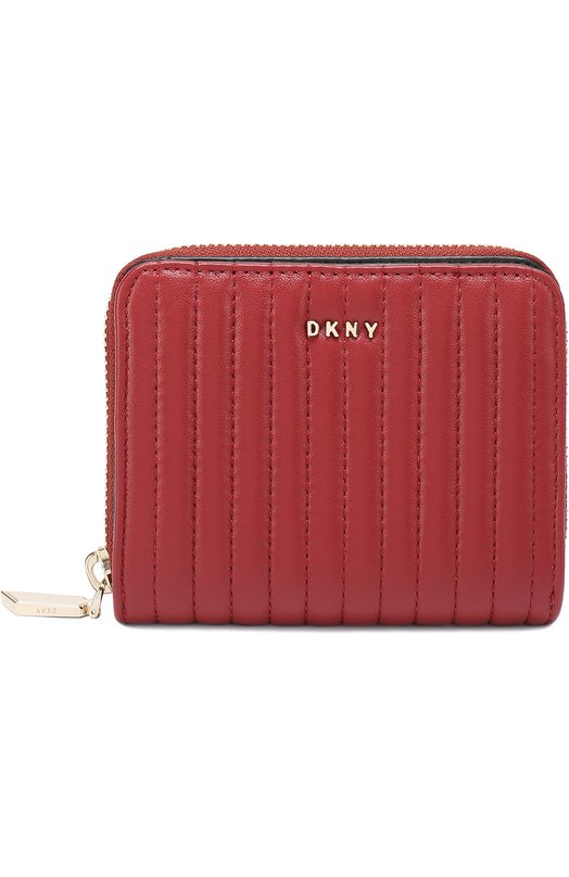 Портмоне из стеганой кожи на молнии DKNY R462450202