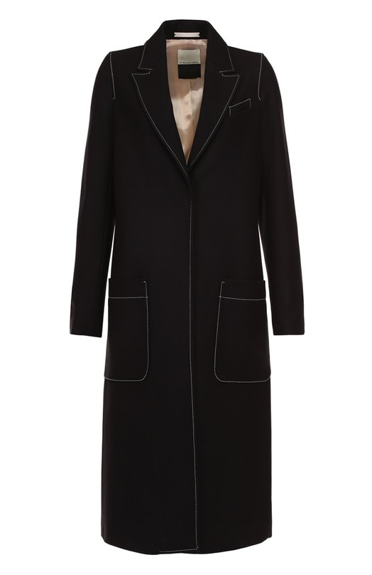 Пальто прямого кроя с контрастной прострочкой By Malene Birger Q57066003/KARISSA.