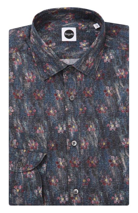 Хлопковая рубашка с принтом Bagutta BERLIN0/05861