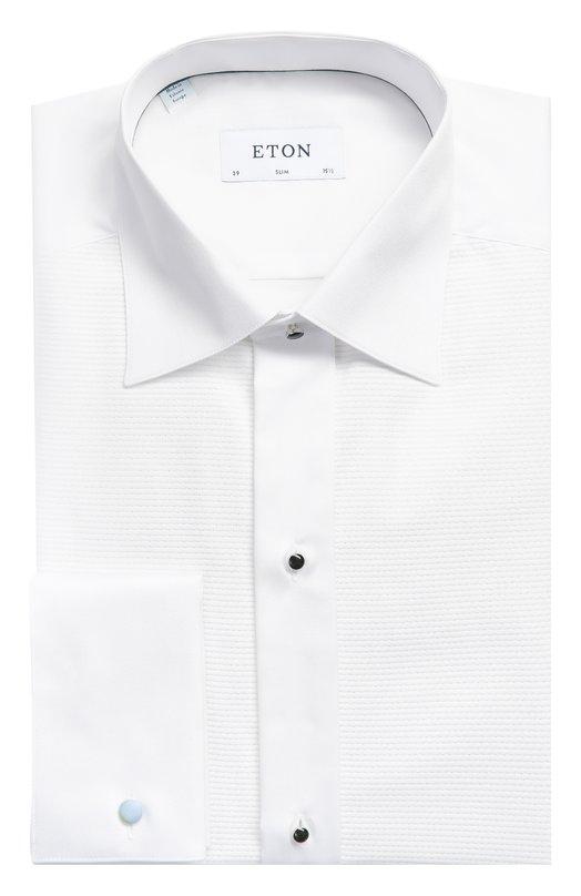 Хлопковая сорочка под смокинг с воротником кент Eton 0464 70510