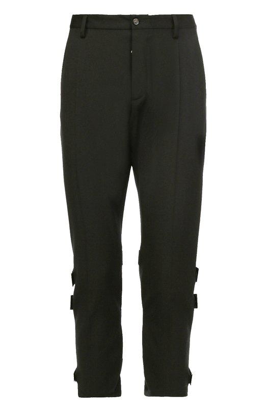Укороченные шерстяные брюки с декоративными ремешками Dsquared2 S71KA0919/S36258