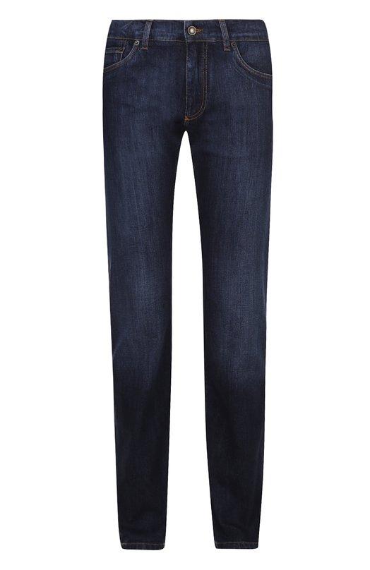 Джинсы прямого кроя с контрастной прострочкой Dolce & Gabbana 0101/G4ZJCD/G8U41