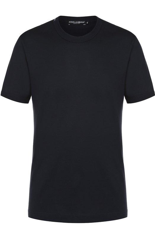 Купить Хлопковая футболка с круглым вырезом Dolce & Gabbana, 0101/G8GX8T/FU7EQ, Италия, Темно-синий, Хлопок: 100%;