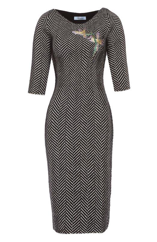 Платье-футляр с укороченным рукавом Blumarine 07032