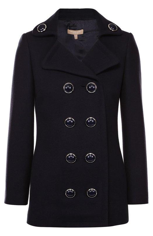 Укороченное двубортное пальто с декорированными пуговицами Michael Kors KDH809A/KH525