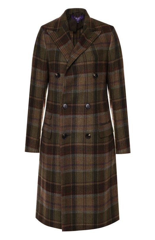 Двубортное кашемировое пальто в клетку Ralph Lauren 910/IJC88/FJC88