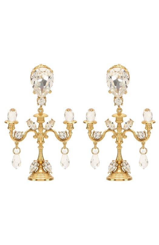 Серьги-клипсы с кристаллами Swarovski Dolce & Gabbana 0136/WEI8X2/W0001