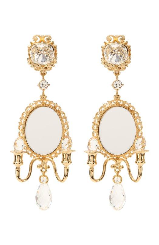 Серьги-клипсы с кристаллами Swarovski Dolce & Gabbana 0136/WEI8X1/W0001