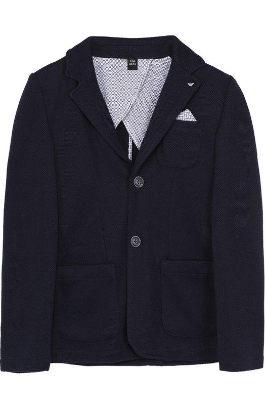 Однобортный пиджак джерси Giorgio Armani 3Y4G01/4JCAZ/4A-10A
