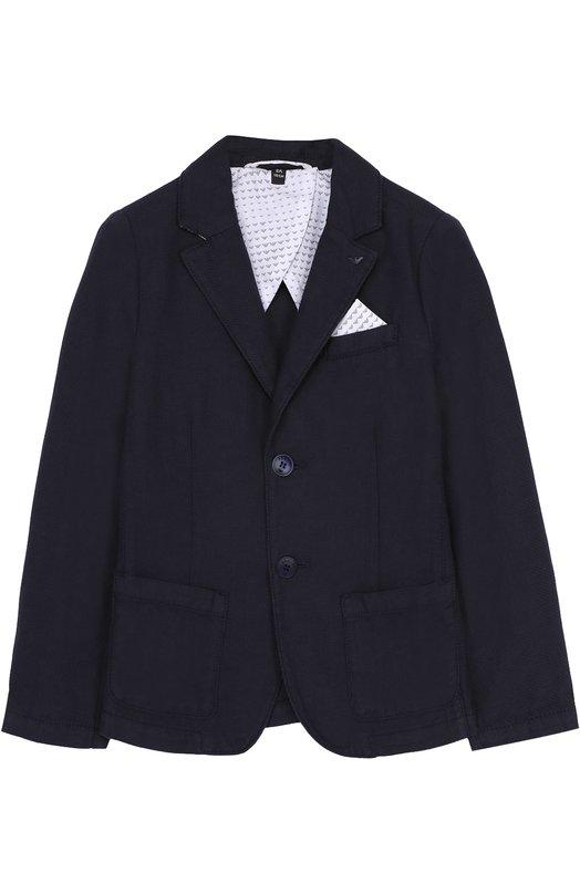 Однобортный пиджак джерси Giorgio Armani 3Y4G04/4N10Z/4A-10A