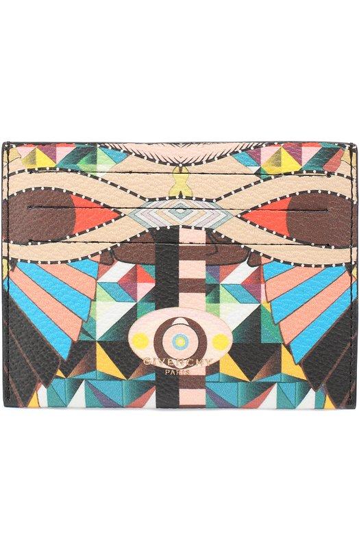 Кожаный футляр для кредитных карт с принтом Givenchy BK0/6000/270