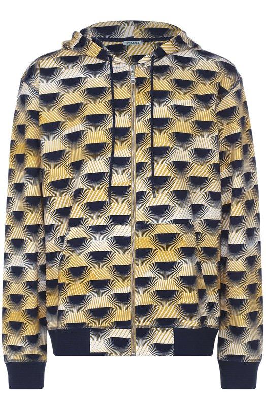 Хлопковая толстовка на молнии с принтом Kenzo F665BL7174CF