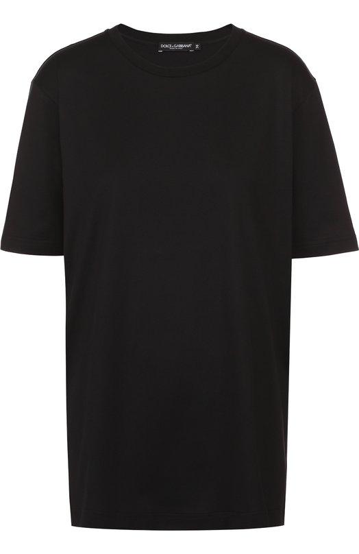 Хлопковая футболка прямого кроя Dolce & Gabbana 0102/F8H01T/FU7EQ
