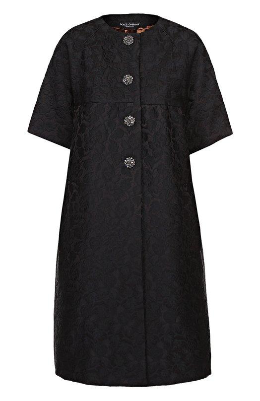 Пальто с фактурной цветочной отделкой и укороченным рукавом Dolce & Gabbana 0102/F0R96Z/FJMTL