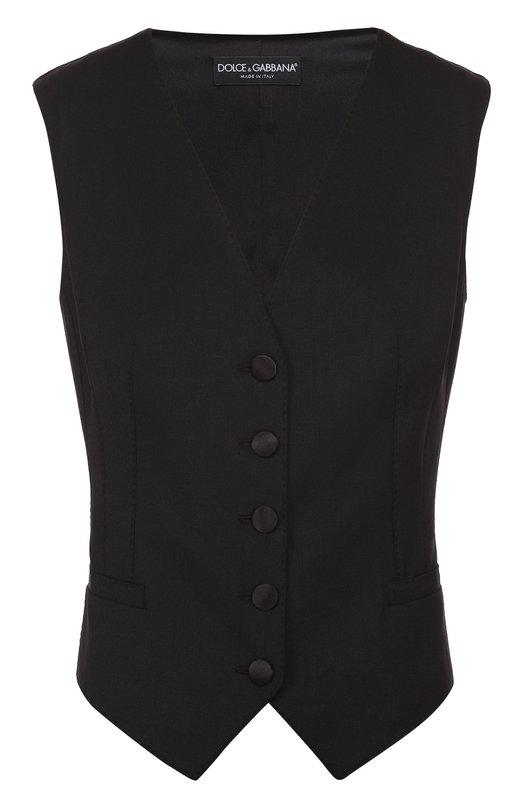Приталенный укороченный жилет без рукавов Dolce & Gabbana 0102/F79H5T/FUCCS