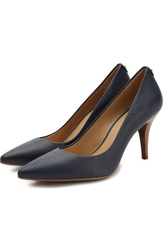 Купить Кожаные туфли Flex на шпильке MICHAEL Michael Kors, 40T2MFMP2L, Вьетнам, Темно-синий, Кожа натуральная: 100%; Стелька-кожа: 100%; Подошва-резина: 100%;