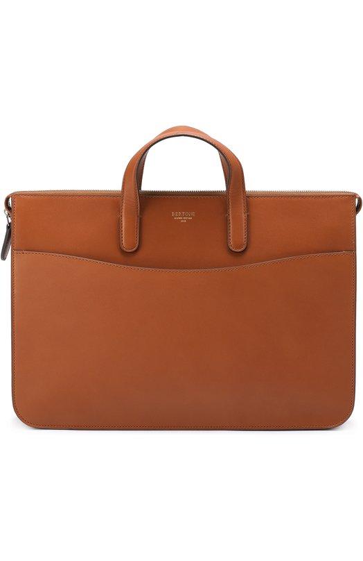 Кожаный портфель на молнии с внешним карманом Bertoni 099FC0180000DR