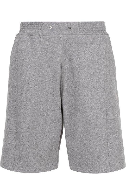Хлопковые шорты свободного кроя с нашивками Givenchy 17S/7225/653