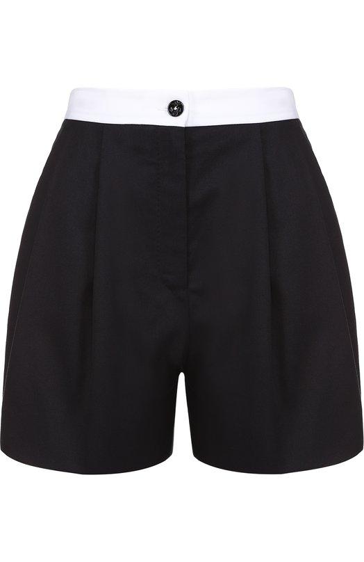 Мини-шорты с защипами и контрастным поясом Dolce & Gabbana 0102/FTAR3T/FUFGD