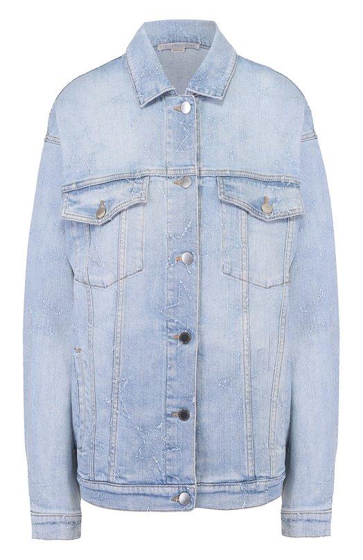 Джинсовая куртка свободного кроя с отделкой в виде звезд Stella McCartney 445705/SIH05