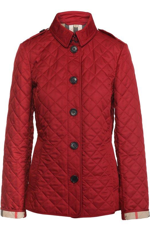 Стеганая куртка прямого кроя с отложным воротником Burberry 3992182