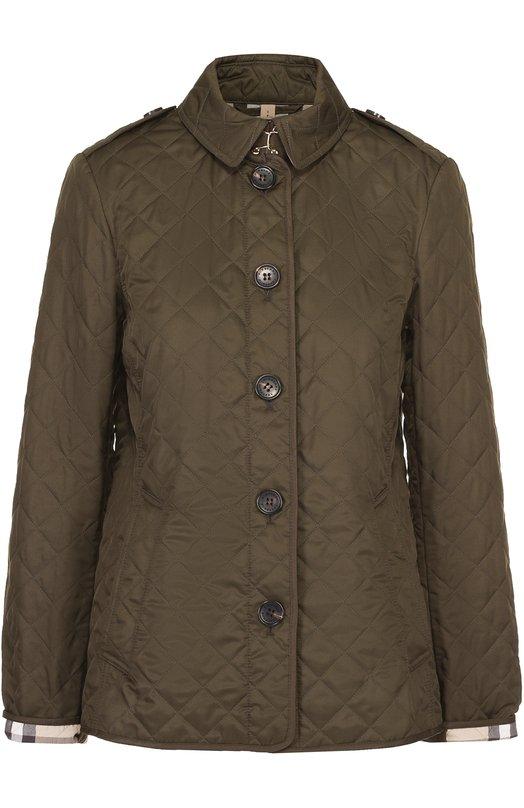 Стеганая куртка прямого кроя с отложным воротником Burberry 3976178