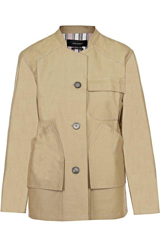 Жакет с укороченным рукавом и накладными карманами Isabel Marant VE0603-17P012I/SASHA