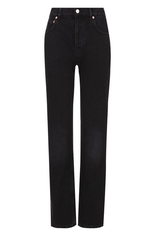 Укороченные джинсы прямого кроя с завышенной талией Balenciaga 460191/TUE14