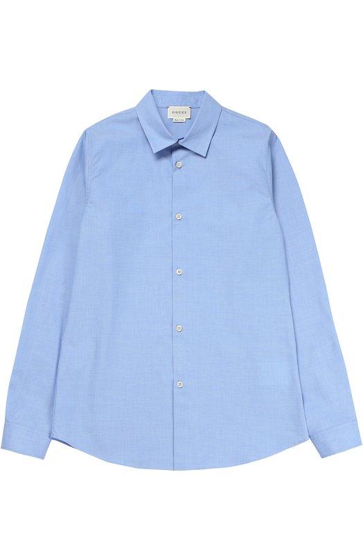 Классическая рубашка из хлопка Gucci 455008/XB189