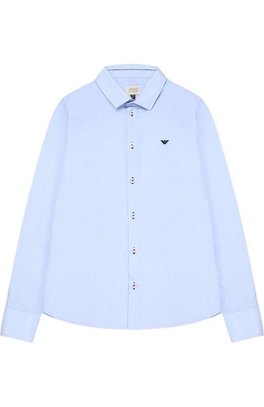 Классическая рубашка из хлопка Giorgio Armani 3Y4C07/4N16Z/11A-16A