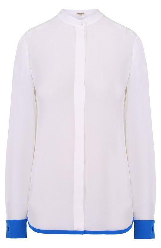 Шелковая блуза прямого кроя с контрастной отделкой Emilio Pucci 71/RJ30/71666