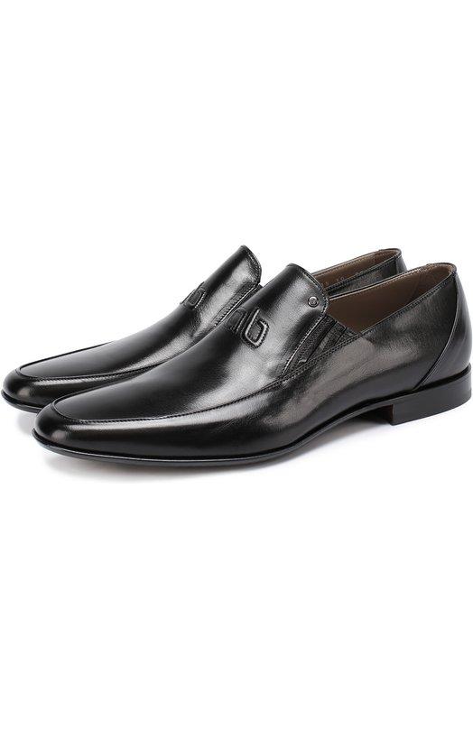 Кожаные туфли с острым мысом без шнуровки Aldo Brue ABGL98/KASUR