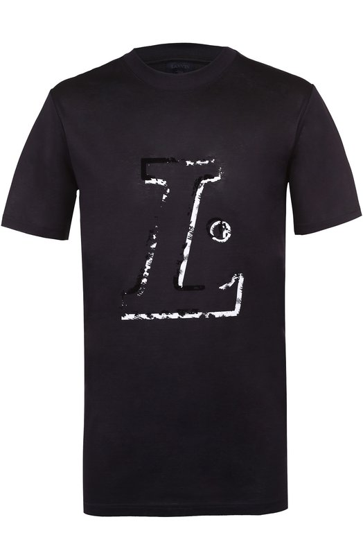 Хлопковая футболка с принтом Lanvin RMJE0050P17
