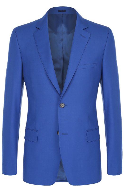 Шерстяной приталенный пиджак Alexander McQueen 449291/QIU01