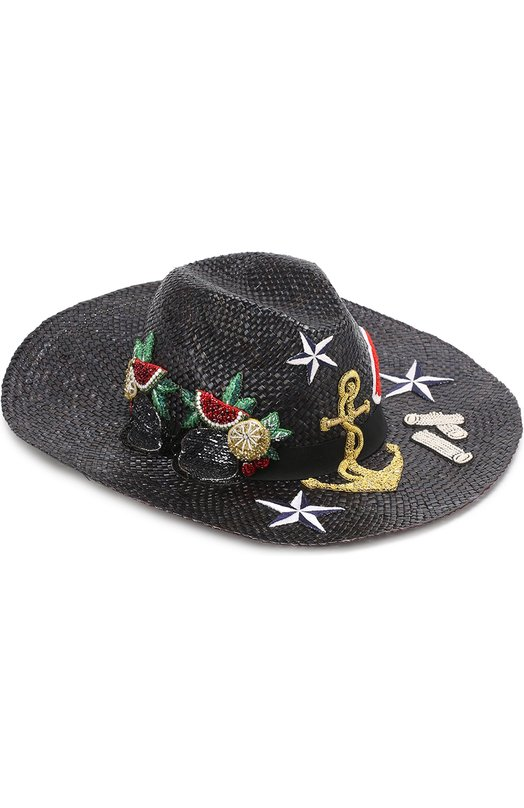 Соломенная шляпа с декоративной отделкой Dolce & Gabbana 0136/FH365Z/GD959