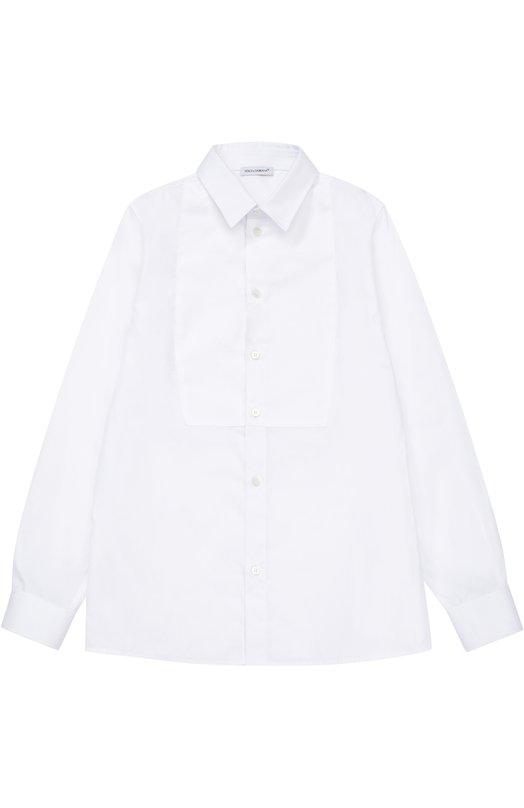 Классическая рубашка из хлопка Dolce & Gabbana 0131/L42S03/FU5GK/8-12